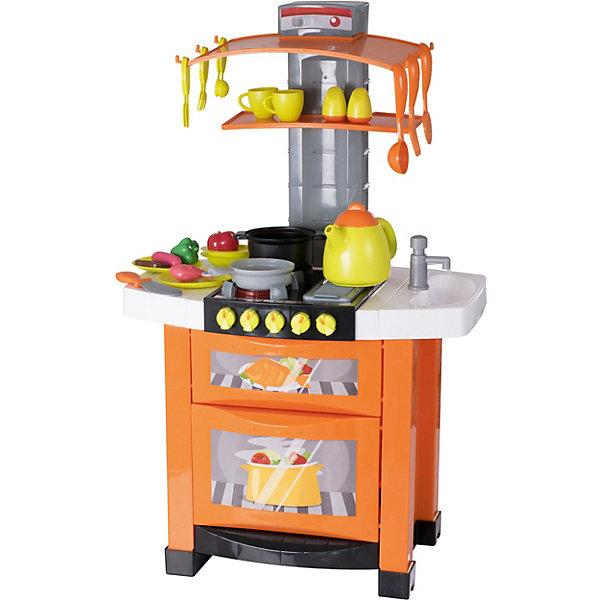 Электронная кухня HTI SmartДетские кухни<br>Характеристики:<br><br>• электронная кухня;<br>• кухня с водой;<br>• в комплекте полный набор посуды и аксессуаров, 21 предмет;<br>• световые и звуковые эффекты;<br>• кухня легко собирается и разбирается;<br>• высота кухни в собранном виде: 90 см;<br>• высота до рабочей поверхности: 44 см;<br>• тип батареек: 3 шт. типа АА;<br>• батарейки приобретаются отдельно;<br>• размер упаковки: 46х51х40 см;<br>• вес: 3,53 кг.<br><br>Электронная кухня Смарт со свето-звуковыми эффектами и функцией подачи воды позволяет малышам «приготовить» аппетитные блюда, сервировать стол и пригласить друзей. Кухня с двумя духовыми шкафами, вытяжкой и плитой с таймером фукнциональна: чайник свистит, сковорода скворчит, кастрюля кипит. Раковина с краном, из которого течет вода, приведет ребенка в восторг. Овощи и фрукты можно красиво оформить в нарезку, в наборе уже имеются различные игрушечные блюда. <br><br>Электронная кухня, Смарт, HTI можно купить в нашем интернет-магазине.<br>Ширина мм: 485; Глубина мм: 225; Высота мм: 395; Вес г: 4250; Возраст от месяцев: 36; Возраст до месяцев: 1188; Пол: Унисекс; Возраст: Детский; SKU: 7441696;