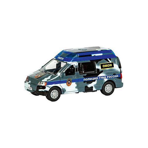 Металлическая машина Пламенный мотор Полиция ОМОН ГУВД России, свет, звук, открывающиеся двери, 13смМашинки<br>Характеристики товара:<br><br>• возраст: от 3 лет;<br>• материал: металл;<br>• масштаб машины: 1:32;<br>• длина машинки: 13 см;<br>• размер упаковки: 16,5х11,5х7 см;<br>• вес упаковки: 280 гр.;<br>• страна производитель: Китай.<br><br>Машина «Полиция ОМОН ГУВД России» Пламенный мотор — машинка из серии «По дорогам России». Она оснащена инерционным механизмом. У машинки открываются двери. Во время движения горят фары и раздаются звуковые сигналы, похожие на звук работающего мотора. Выполнена машинка из ударопрочного металла.<br><br>Машину «Полиция ОМОН ГУВД России» Пламенный мотор можно приобрести в нашем интернет-магазине.<br>Ширина мм: 165; Глубина мм: 70; Высота мм: 115; Вес г: 280; Возраст от месяцев: 3; Возраст до месяцев: 2147483647; Пол: Мужской; Возраст: Детский; SKU: 7442886;