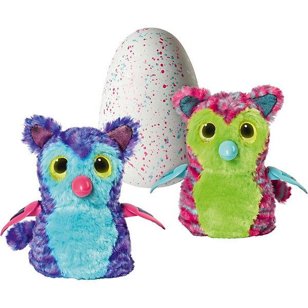 Интерактивная игрушка Spin Master Hatchimals  - питомец, вылупляющийся из яйцаИнтерактивные животные<br>Характеристики:<br><br>• возраст: 5+;<br>• материал: пластик, текстиль, плюш;<br>• цвет: розово-желтый, фиолетово-бирюзовый;<br>• высота яйца: 18 см;<br>• высота питомца: 15 см;<br>• размеры упаковки: 21х15х26 см;<br>• батарейки: 2 х AA / LR6 1.5V (пальчиковые).<br><br>Интерактивный питомец тигровой расцветки с кошачьими ушками и длинным хвостиком живет в яйце. Мальчикам и девочкам следует согревать и поглаживать яйцо в руках, чтобы пингвинчик смог вылупиться из него. Сначала питомец начинает шевелиться, становится слышно его сердцебиение, затем он пробивает скорлупу клювом и, наконец, вылупляется. <br><br>Далее проходит 3 стадии взросления (младенец, ребенок, взрослый). На любом этапе детей ждет интересная игра с интерактивной игрушкой, веселые танцы, смешные звуки и ритмы. LED лампочки показывают настроение питомца. <br><br>Вылупившийся птенец может оказаться фиолетово-бирюзового цвета или розово-желтого. В комплект входит детальная инструкция.<br><br>Интерактивную игрушку «Пингвинчик Tigrette Hatchimals», Spin Master можно приобрести в нашем интернет-магазине.<br>Ширина мм: 256; Глубина мм: 205; Высота мм: 149; Вес г: 838; Возраст от месяцев: 60; Возраст до месяцев: 84; Пол: Унисекс; Возраст: Детский; SKU: 7442895;