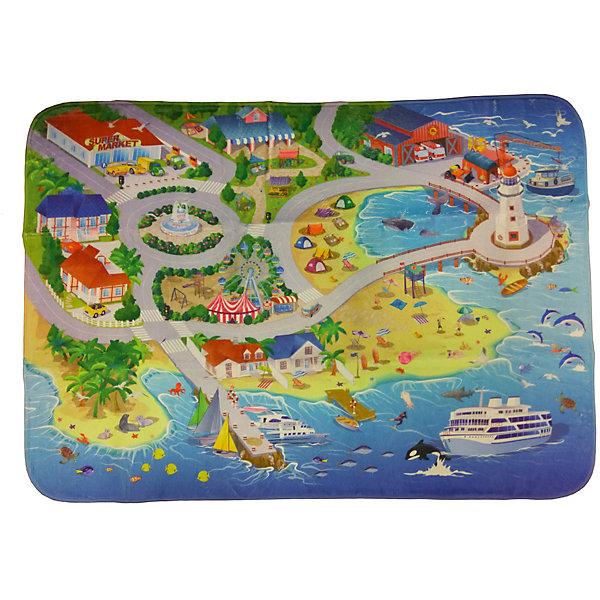 Игровой коврик Teplokid На пляжеДетские ковры<br>Характеристики:<br><br>• вес: 1,320кг.;<br>• упаковка: сумочка-чехол;<br>• размер коврика: 180х130 см;<br>• размер упаковки: 46х42,5х50см.;<br>• материал: полиэстер.;<br>• для детей в возрасте: от 3лет.;<br>• страна производитель: Россия.<br><br>Игровой коврик «На пляже» бренда «Teplokid» (Теплокид) станет отличным приобретением для маленьких мальчишек и девчонок. Он создан из высококачественных, экологически чистых материалов, что очень важно для детских товаров.<br><br>Это макет настоящего курортного побережья, по которому можно путешествовать у моря пешком или на машинках. Коврик имеет большую игровую поверхность (180х130см.) и высокие теплоизолирующие свойства, что особенно полезно в холодное время года.<br><br> Играя дети развивают фантазию, мелкую моторику, придумывают разные истории и просто весело проводят время.<br>                                     <br>Игровой коврик «На пляже» бренда «Teplokid» (Теплокид)  можно купить в нашем интернет-магазине.<br>Ширина мм: 1800; Глубина мм: 1300; Высота мм: 80; Вес г: 1410; Цвет: blau/gelb; Возраст от месяцев: 0; Возраст до месяцев: 48; Пол: Унисекс; Возраст: Детский; SKU: 7448389;