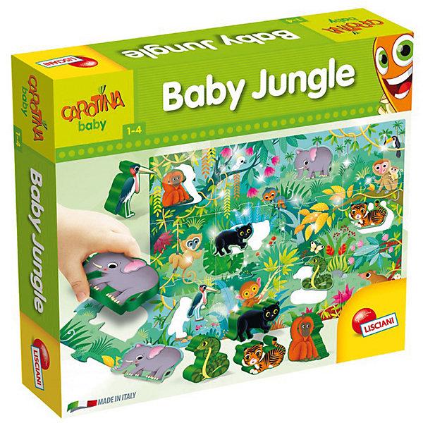 Паззл для самых маленьких с 3-D фигурками «МОЙ ЗООПАРК», LiscianiПазлы для малышей<br>Характеристики товара:<br><br>• возраст: от 1 года;<br>• количество деталей: 18;<br>• размер пазла: 50х70 см;<br>• примерный размер фигурок: 8 см;<br>• материал: картон, пластик;<br>• размер упаковки: 6х26х29 см;<br>• страна бренда: Италия.<br><br>Играя с пазлом «Мой зоопарк», ребенок познакомится с разными видами диких животных, а также научится собирать пазлы из крупных частей. Картинка размером 50х70 сантиметров состоит из двенадцати частей пазла, внутри которых расположены объемные фигурки зверят из пластика. <br><br>Игра с 3D-пазлами поможет в развитии логического мышления, мелкой моторики и координации движений, а яркие картинки помогут расширить кругозор и пополнить словарный запас. С объемными фигурками можно играть отдельно - малыш сможет придумать свою сказку или приключения для зверей.<br><br>Паззл для самых маленьких с 3-D фигурками «Мой зоопарк», Lisciani (Лисциани) можно купить в нашем интернет-магазине.<br>Ширина мм: 255; Глубина мм: 285; Высота мм: 60; Вес г: 998; Возраст от месяцев: 12; Возраст до месяцев: 2147483647; Пол: Унисекс; Возраст: Детский; SKU: 7450870;