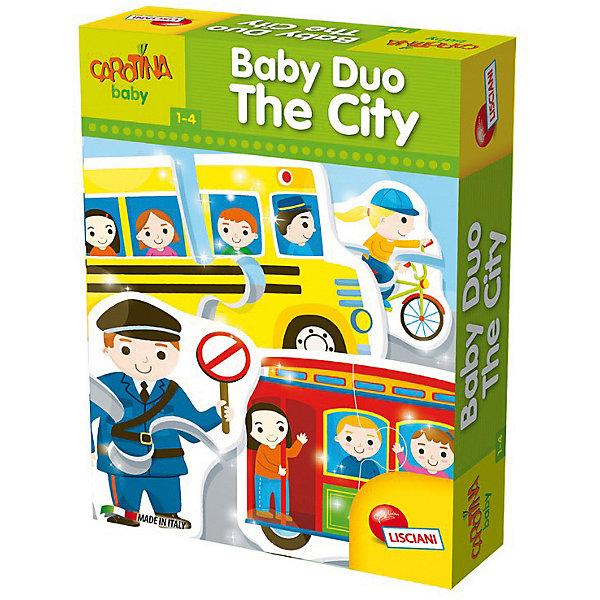 Паззл для самых маленьких «В ГОРОДЕ», LiscianiПазлы для малышей<br>Характеристики товара:<br><br>• возраст: от 1 года;<br>• количество картинок: 15;<br>• количество элементов: 30;<br>• материал: картон;<br>• размер упаковки: 6х18х25 см;<br>• страна бренда: Италия.<br><br>Пазл «В городе» содержит 15 картинок, состоящих из 30 пазлов. Собирая пазлы, малыш познакомится с жизнью городов: транспорт, строения, профессии и многое другое. Картинки выполнены в ярких цветах, чтобы малышу было интересно заниматься. Такая игра хорошо развивает логическое мышление, мелкую моторику, воображение, а также расширяет кругозор и способствует пополнению словарного запаса.<br><br>Паззл для самых маленьких «В городе», Lisciani (Лисциани) можно купить в нашем интернет-магазине.<br>Ширина мм: 255; Глубина мм: 188; Высота мм: 60; Вес г: 998; Возраст от месяцев: 12; Возраст до месяцев: 2147483647; Пол: Унисекс; Возраст: Детский; SKU: 7450871;