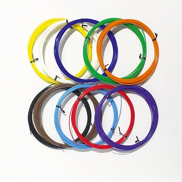 Набор ABS пластика 3D Фантазер, 1,75 мм, 10 цветов по 10 метровПластик для 3D ручек<br>Характеристики товара: <br><br>• возраст: от 7 лет;<br>• материал: пластик ABS;<br>• комплектация: 10 катушек по 10 метров;<br>• диаметр нити: 1,75 мм;   <br>• температура плавления: 210-240 градусов;  <br>• цвета: красный, синий, зеленый, желтый, белый, черный, фиолетовый, оранжевый, голубой, коричневый;<br>• размер упаковки: 23х22х4 см;<br>• вес упаковки: 335 гр.;<br>• страна производитель: Россия.<br><br>Набор ABS пластика «3D Фантазер» создан специально для использования в 3D ручках. Конец нити вставляется в разогретую заранее ручку. Затем под воздействием тепла он плавится и выходит из ручки. Пластик способен принимать различные формы, благодаря чему можно придумывать разнообразные 3D модели.<br>     <br>Набор ABS пластика «3D Фантазер» можно приобрести в нашем интернет-магазине.<br>Ширина мм: 23; Глубина мм: 22; Высота мм: 4; Вес г: 335; Возраст от месяцев: 96; Возраст до месяцев: 2147483647; Пол: Унисекс; Возраст: Детский; SKU: 7451117;