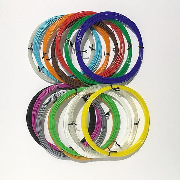3D Фантазер Набор PLA пластика 3D Фантазер, 1,75 мм, 15 цветов по 10 метров набор пластика cactus pla для 3d ручек 12 цветов по 10 метров