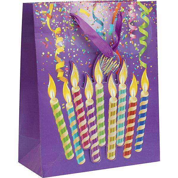 Белоснежка Пакет Лучший день 18*24*8 см фиолетовый цвет 18 24 months