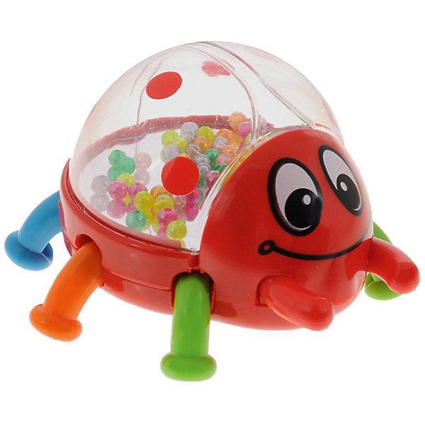 Погремушка Mioshi Жук (красная)Игрушки для новорожденных<br>Характеристики товара:<br><br>• возраст: от 6 месяцев;<br>• комплект: жучок; <br>• из чего сделана игрушка (состав): высококачественная пластмасса;<br>• размер упаковки: 13х8,5х13 см.;<br>• вес: 290 гр.;<br>• упаковка: картонная коробка;<br>• страна обладатель бренда: Россия.<br><br>Погремушка меет как подвижные элементы, так и гремящие шарики, которые развивает мелкую моторику рук, а также звуковое и цветовое восприятие окружающей среды малыша. <br><br>Если нажать на спинку жучка, его яркие лапки начинают двигаться и он подпрыгивает.<br><br>В корпусе жучка расположено зеркальце и красочные шарики, которые приятно гремят и движутся во время игры. Игрушка выполнена из высококачественной пластмассы.<br><br>Погремушку жука можно купить в нашем интернет-магазине.<br>Ширина мм: 130; Глубина мм: 85; Высота мм: 130; Вес г: 290; Возраст от месяцев: -2147483648; Возраст до месяцев: 2147483647; Пол: Унисекс; Возраст: Детский; SKU: 7459448;
