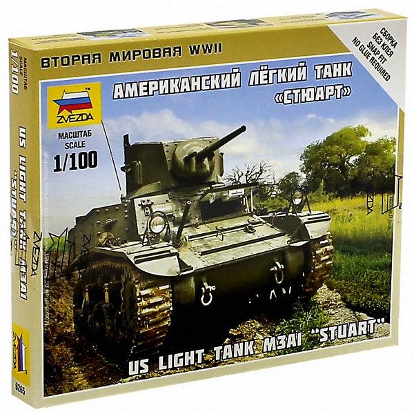 Звезда Сборная модель Американский лёгкий танк Стюарт