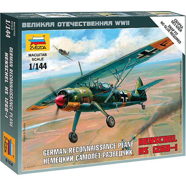 Звезда Сборная модель Немецкий самолёт-разведчик Henschel