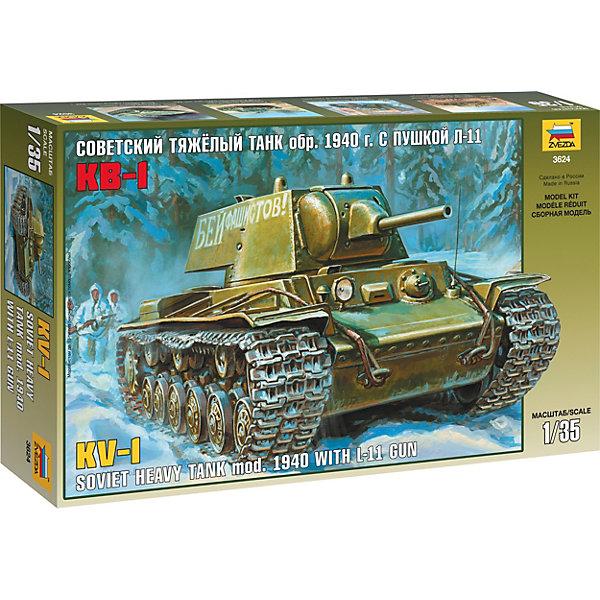 Звезда Сборная модель Советский танк КВ-1 мод. 1940г. модель танка кв 1 обр 1940г 1 100 бронза