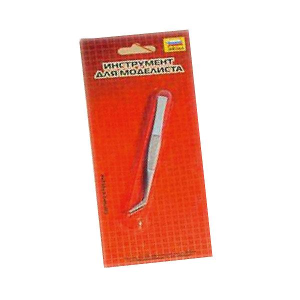 Аксессуар для сборки  Пинцет отогнутыйАксессуары для сборных моделей<br>Характеристики:<br><br>• возраст: от 10 лет;<br>• материал: металл;<br>• длина аксессуара: 12 см;<br>• вес упаковки: 25 гр.;<br>• размер упаковки: 9,5х22х2 см;<br>• страна производитель: Россия.<br><br>Отогнутый пинцет Zvezda предназначен для работы со сборными моделями. С его помощью удобно обращаться с самыми мелкими деталями. Края пинцета острые, имеют загнутую форму.<br><br>Аксессуар для сборки «Пинцет отогнутый» можно купить в нашем интернет-магазине.<br>Ширина мм: 70; Глубина мм: 45; Высота мм: 5; Вес г: 25; Возраст от месяцев: 84; Возраст до месяцев: 2147483647; Пол: Унисекс; Возраст: Детский; SKU: 7459892;