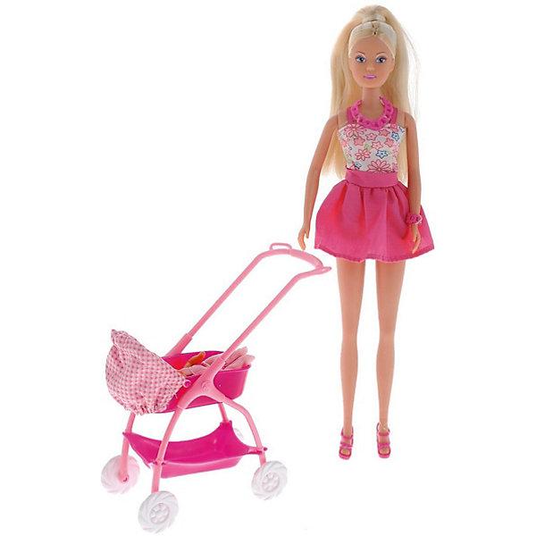 Фото - Simba Кукла Штеффи с ребёнком, 29 см,розовая, Simba кукла штеффи беременная королевский набор 29 см