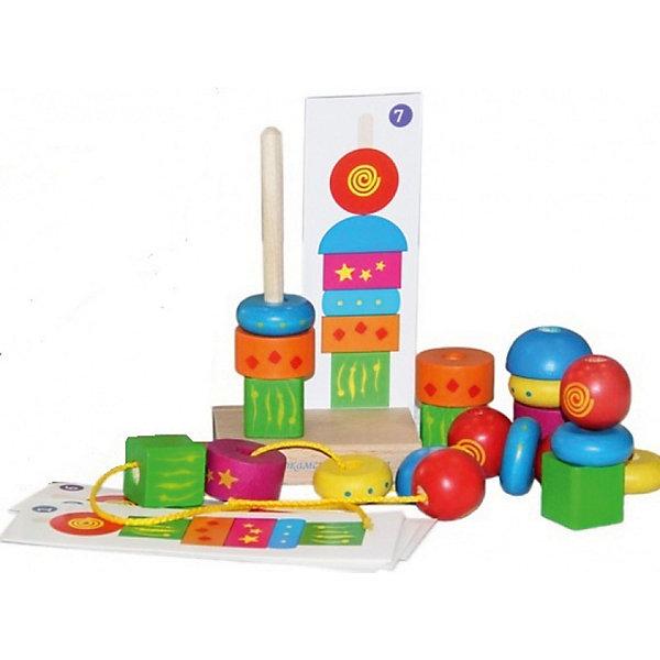 Краснокамская игрушка Деревянная пирамидка Краснокамская игрушка Геометрия деревянные игрушки краснокамская игрушка пирамидка кольцевая новая