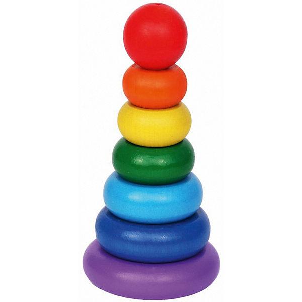 Краснокамская игрушка Деревянная пирамидка Краснокамская игрушка Семицветик деревянные игрушки краснокамская игрушка пирамидка кольцевая новая