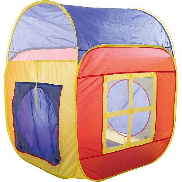 Игровая палатка Shantou Gepai Домик, в сумкеИгровые центры<br>Характеристики товара:<br><br>• возраст: от 3 лет;<br>• размер палатки: 86х86х105 см.;<br>• цвет: мультиколор;<br>• состав: вининил, пластик;<br>• размер упаковки: 37х5х38 см.;<br>• вес в упаковке: 790 гр.;<br>• упаковка: текстильная сумка с ручками;<br>• бренд, страна: Shantou Gepai, Китай;<br>• страна-производитель: Китай.<br><br>Палатка игровая «Домик» от торговой марки Shantou - это великолепное развлечение для детей, поскольку оно позволит им ощутить удовольствие от обладания собственным жилищем. Палатка станет очень хорошим подарком для малыша. Препровождение в палатке научит ребенка адаптироваться в любой среде, научит быть самостоятельным и организованным.<br><br>Палатка оснащена входом, закрывать его можно специальной шторкой на липучках. На противоположной стороне расположена большая прозрачная мелкоячеистая вставка, сквозь которую родители смогут наблюдать за действиями ребенка. Вставка, имитирующая окошко, послужит отличной вентиляцией, а также предотвратит попадание насекомых внутрь палатки. Благодаря ярким цветам, палатка выглядит очень уютной и милой. Игровой домик очень легко складывать и брать с собой на природу. <br><br>Палатка идеально подходит для сюжетно-ролевых игр на свежем воздухе или в помещении. В ней одновременно могут поместиться несколько малышей. Палатка сделана из водонепроницаемой ткани, он легко моется в случае необходимости. Очень проста в установке - сама разворачивается за счет каркаса-спирали, есть пол. Схема сборки в изначальное состояние прилагается.<br><br>Ассортимент товаров Shantou, сочетая превосходное качество, яркий и уникальный дизайн,  по праву получил признание миллионов покупателей во всем мире.<br><br>Палатку игроваую «Домик», 86х86х105 см., Shantou можно купить в нашем интернет-магазине.<br>Ширина мм: 370; Глубина мм: 50; Высота мм: 380; Вес г: 790; Возраст от месяцев: 36; Возраст до месяцев: 2147483647; Пол: Унисекс; Возраст: Детский; SKU: 7460852;