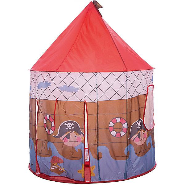 Игровая палатка Shantou Gepai Пират, в чехлеИгровые центры<br>Характеристики товара:<br><br>• возраст: от 3 лет;<br>• размер палатки: 100х100х135 см.;<br>• цвет: красный;<br>• состав: текстиль, пластик, металл;<br>• размер упаковки: 43х3х43 см.;<br>• вес в упаковке: 890 гр.;<br>• упаковка: текстильная сумка с ручками;<br>• бренд, страна: Shantou Gepai, Китай;<br>• страна-производитель: Китай.<br><br>Палатка игровая «Пират» от торговой марки Shantou - это красочная разноцветная палатка, которая может послужить прекрасным домиком для игр малыша.Палатка станет очень хорошим подарком. Препровождение в палатке научит ребенка адаптироваться в любой среде, научит быть самостоятельным и организованным.<br><br>Яркая цветовая гамма и изображения пирата говорит о том, что палатка больше предназначена для мальчиков. Палатка выглядит как небольшой сказочный шатер, ее очень легко складывать и брать с собой на природу. Палатка оснащена входом, закрывать его можно специальной шторкой на липучках.<br><br>Палатка идеально подходит для сюжетно-ролевых игр на свежем воздухе или в помещении. В ней одновременно могут поместиться несколько малышей. Палатка сделана из водонепроницаемой ткани, он легко моется в случае необходимости. Очень проста в установке - сама разворачивается за счет каркаса-спирали, есть пол. Схема сборки в изначальное состояние прилагается.<br><br>Ассортимент товаров Shantou, сочетая превосходное качество, яркий и уникальный дизайн,  по праву получил признание миллионов покупателей во всем мире.<br><br>Палатку игровую «Пират», 100х100х135 см., Shantou можно купить в нашем интернет-магазине.<br>Ширина мм: 430; Глубина мм: 30; Высота мм: 430; Вес г: 890; Возраст от месяцев: 36; Возраст до месяцев: 2147483647; Пол: Мужской; Возраст: Детский; SKU: 7460857;
