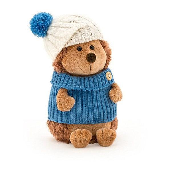 Мягкая игрушка Orange Ёжик Колюнчик в шапке с голубым помпоном, 20 смМягкие игрушки животные<br>Характеристики товара:<br><br>• возраст: от 3 лет;<br>• цвет: коричневый, голубой;<br>• высота игрушки: 20 см.;<br>• состав: искусственный мех, полиэтиленовые гранулы, текстиль, пластик;<br>• упаковка: картонная коробка открытого типа.;<br>• вес в упаковке: 130 гр.;<br>• бренд, страна: Orange, Россия;<br>• страна-производитель: Китай.<br><br>Мягкая игрушка «Ёжик Колюнчик в шапке с голубым помпоном» из коллеции LIFE торговой марки Orange может привести в восторг многих детей. Послужит ребенку не только отличном подарком, но и украсит интерьер дома, придаст комнате атмосферу уюта и тепла. С таким ёжиком можно весело играть, спать и гулять.<br><br>Игрушка представляет собой ежика по имени Колюнчик. Мягкое животное коричневого цвета одето в теплый свитерок голубого цвета, а также в белую шапку с голубым помпоном. У забавного ежика такая же немного вытянутая мордочка, как у настоящего ежа, а также глазки-пуговки. Колючки игрушечного ежа сделаны из такого же мягкого материала, как и его тельце. <br><br>Внутри игрушки находятся маленькие полиэтиленовые гранулы, которые не теряют форму и не позволяют игрушке портиться. Аккуратно простроченные швы надежно удерживают внутреннюю набивку. Материалы, использованные для изготовления игрушки, прошли контроль качества и безопасны для маленьких детей. <br><br>Коллекция LIFE включает в себя несколько симпатичных персонажей - совершенно разных, но объединённых общей историей их Жизни. Каждый герой имеет свое имя, характер и представлен в нескольких размерах, с разными одеждами и аксессуарами. Все игрушки продаются в стильных коробочках-трансформерах из экологического крафт-картона.<br><br>Мягкую игрушку «Ёжик Колюнчик в шапке с голубым помпоном», сидячий, 20 см., Orange можно купить в нашем интернет-магазине.<br>Ширина мм: 300; Глубина мм: 110; Высота мм: 80; Вес г: 160; Возраст от месяцев: 36; Возраст до месяцев: 180; Пол: Унисекс; Возраст