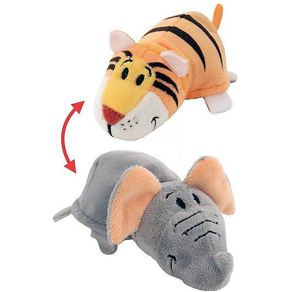 Мягкая игрушка-вывернушка 1Toy Тигр-Слон, 28 смВывернушки<br>Характеристики:<br><br>• вес: 436г.;<br>• материал: текстиль, плюш;<br>• упаковка: пакет;<br>• размер игрушки: 35см.;<br>• для детей в возрасте: от 3 лет;<br>• страна производитель: Китай.<br><br>Игрушка-вывернушка 2в1 «Тигр-Слон» бренда «1Toy» (Той) станет желанным двойным подарком для маленьких девчонок и мальчишек. Она создана из качественных, не аллергенных материалов, что очень важно для детских товаров.<br><br>Милая двойная игрушка с шикарной шубкой привлечёт внимание любого ребёнка. Игрушка имеет оптимальный размер, её рост составляет тридцать пять сантиметров. У неё мягкое тельце, яркие носик и лапки, большие глазки. Игрушку можно брать с собой в путешествия и на прогулки, чтобы удивлять подружек и играть вместе сними. Игрушка надолго останется любимицей малыша, она не линяет и не деформируется даже при машинной стирке.<br><br>Играя, с мягкими игрушками дети получают позитивные тактильные ощущения, хорошо успокаиваются и засыпают.<br><br>Игрушку-вывернушку 2в1 «Тигр-Слон» можно купить в нашем интернет-магазине.