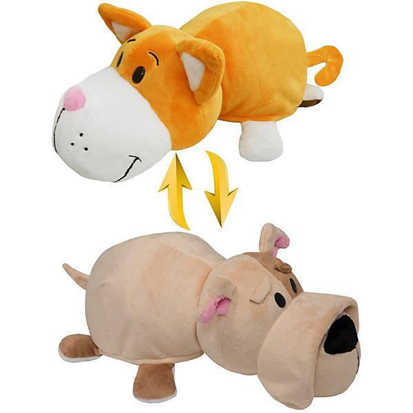 Мягкая игрушка-вывернушка 1Toy Оранжевый кот-Бульдог, 28 см