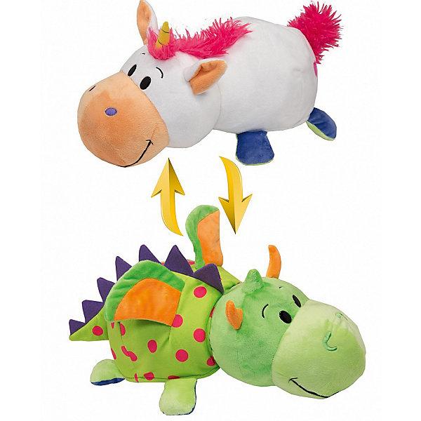Мягкая игрушка-вывернушка 2 в 1 1Toy Единорог-Дракон, 28 смМягкие игрушки животные<br>Характеристики:<br><br>• вес: 436г.;<br>• материал: текстиль, плюш;<br>• упаковка: пакет;<br>• размер игрушки:35см.;<br>• для детей в возрасте: от 3 лет;<br>• страна производитель: Китай.<br><br>Игрушка-вывернушка 2в1 «Единорог-Дракон» бренда «1Toy» (1Той) станет желанным двойным подарком для маленьких девчонок и мальчишек. Она создана из качественных, не аллергенных материалов, что очень важно для детских товаров.<br><br>Милая двойная игрушка с шикарной шубкой привлечёт внимание любого ребёнка. Игрушка имеет оптимальный размер, её рост составляет тридцать пять сантиметров. У неё мягкое тельце, яркие носик и лапки, большие глазки. Игрушку можно брать с собой в путешествия и на прогулки, чтобы удивлять подружек и играть вместе сними. Игрушка надолго останется любимицей малыша, она не линяет и не деформируется даже при машинной стирке.<br><br>Играя, с мягкими игрушками дети получают позитивные тактильные ощущения, хорошо успокаиваются и засыпают.<br><br>Игрушку-вывернушку 2в1 «Единорог-Дракон» можно купить в нашем интернет-магазине.<br>Ширина мм: 560; Глубина мм: 360; Высота мм: 265; Вес г: 424; Возраст от месяцев: 36; Возраст до месяцев: 2147483647; Пол: Унисекс; Возраст: Детский; SKU: 7463951;