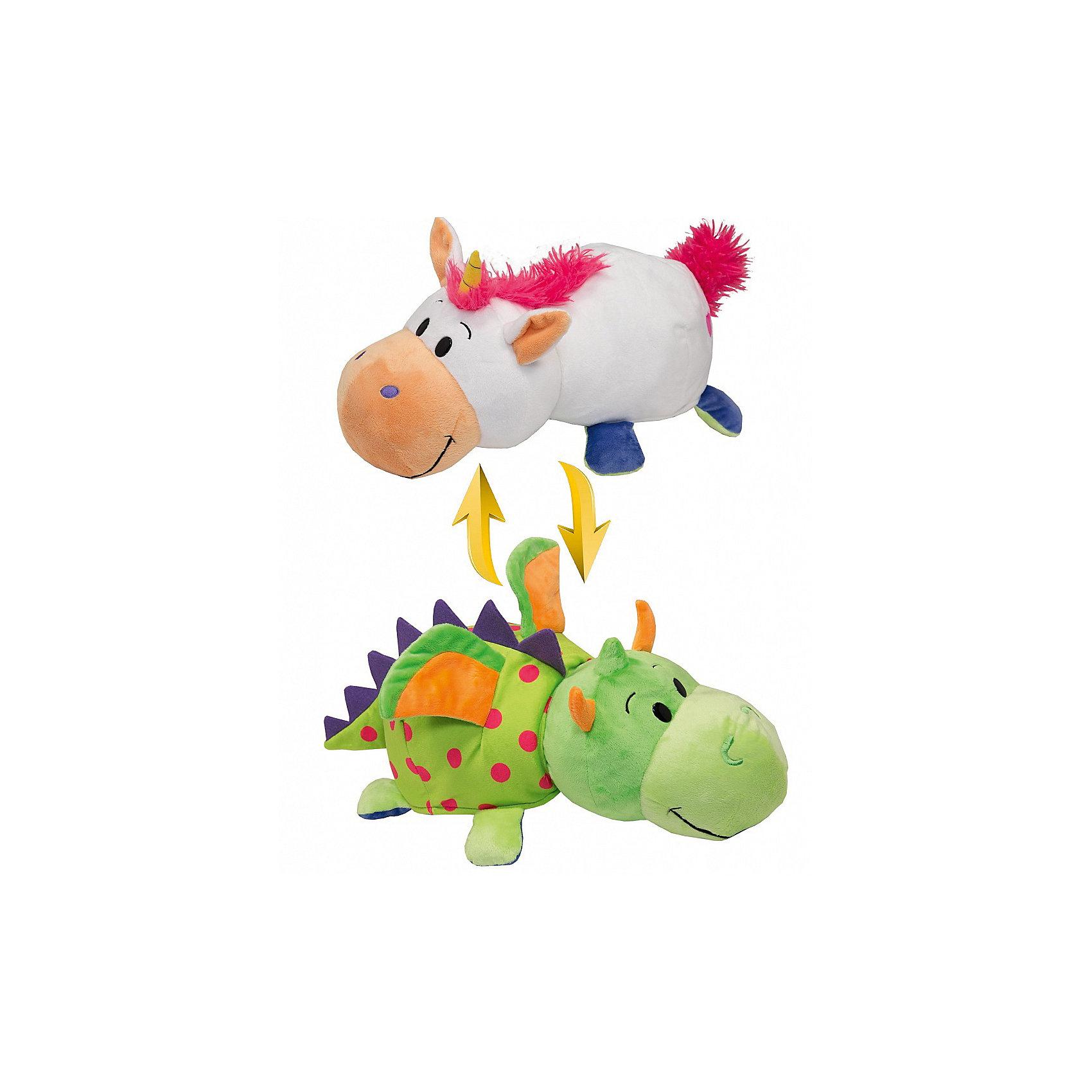 Мягкая игрушка-вывернушка 2 в 1 1Toy Единорог-Дракон, 28 см