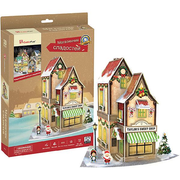 CubicFun 3D пазл CubicFun Рождественский магазин сладостей с подсветкой 3d пазл с подсветкой рождественский коттедж 3 cubicfun