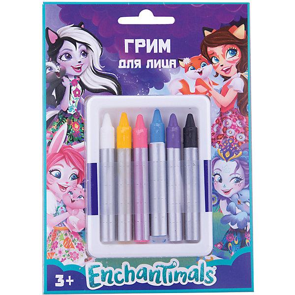Карандаши гримировальные Centrum Enchantimals, 6 штКарнавальный грим<br>Характеристики:<br><br>• гримировальные карандаши;<br>• цветные, 6 тонов: голубой, белый, черный, желтый, розовый, сиреневый;<br>• мягкая текстура;<br>• восковая основа;<br>• легкое нанесение;<br>• сочетание цветов;<br>• альтернатива декоративной косметики;<br>• размер упаковки: 16х11х2 см;<br>• вес: 43 г.<br><br>Гримировальные карандаши Enchantimals используются в играх «Салон красоты» с целью создания ярких образов. Мягкое нанесение, игра цвета, гипоаллергенные свойства карандашей. В основе парафин и пчелиный воск, касторовое масло. Девочки делают грим в стиле Энчантималс.<br><br>Карандаши гримировальные цветные Enchantimals, 6 тонов можно купить в нашем интернет-магазине.<br>Ширина мм: 20; Глубина мм: 118; Высота мм: 163; Вес г: 50; Цвет: разноцветный; Возраст от месяцев: 36; Возраст до месяцев: 84; Пол: Женский; Возраст: Детский; SKU: 7481538;