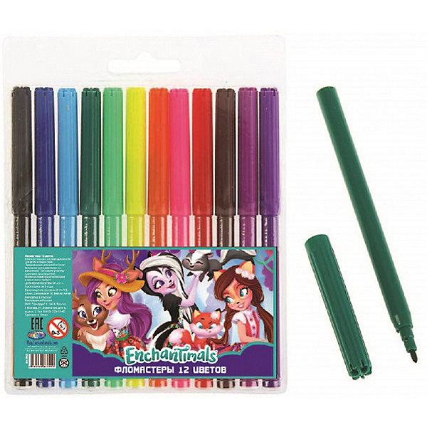 Фломастеры Centrum Enchantimals, 12 цветовФломастеры<br>Характеристики:<br><br>• фломастеры для рисования;<br>• 12 цветов;<br>• вентилируемый колпачок;<br>• фломастеры на водной основе;<br>• морозостойкие;<br>• устойчивы к перепадам температур;<br>• набор упакован в коробку с европодвесом.<br><br>Цветные фломастеры Enchantimals используются для детского творчества дома, в детских садах и школах. Вентилируемые колпачки фломастеров препятствуют высыханию чернил, фломастеры удобно держать в маленькой детской ручке. Яркие насыщенные цвета любой рисунок сделают заметным и цветным. <br><br>Фломастеры Enchantimals, 12 цветов можно купить в нашем интернет-магазине.<br>Ширина мм: 10; Глубина мм: 135; Высота мм: 160; Вес г: 80; Цвет: разноцветный; Возраст от месяцев: 36; Возраст до месяцев: 84; Пол: Женский; Возраст: Детский; SKU: 7481540;