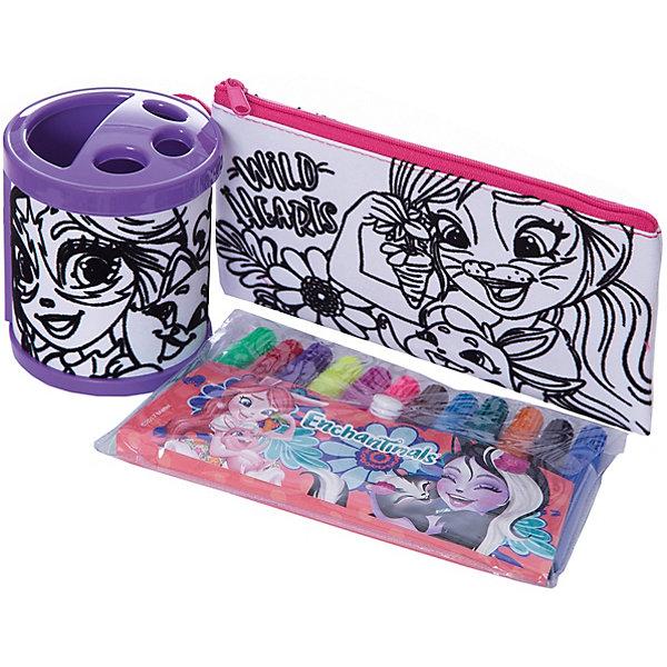 Набор для росписи Centrum  Enchantimals, Бри КроляНаборы для росписи<br>Характеристики:<br><br>• набор для творчества;<br>• сумка для раскрашивания;<br>• яркие и насыщенные цвета фломастеров;<br>• на сумку нанесен контур рисунка;<br>• для контура используется флок – эффект бархата;<br>• размер сумки: 24х34 см.<br><br>Маленькая модница своими руками изготовит стильный аксессуар. Сумочка для раскрашивания с нанесенным контурным рисунком и белыми зонами, которые заполняются цветом для создания объемной аппликации. После раскрашивания желательно оставить сумочку до полного высыхания.  <br><br>Комплектация набора: <br><br>• сумка А4;<br>• фломастеры 12 цветов;<br>• подставка;<br>• блистерная упаковка с подвесом.<br><br>Набор для раскрашивания Enchantimals можно купить в нашем интернет-магазине.<br>Ширина мм: 90; Глубина мм: 125; Высота мм: 285; Вес г: 500; Цвет: разноцветный; Возраст от месяцев: 36; Возраст до месяцев: 84; Пол: Женский; Возраст: Детский; SKU: 7481554;