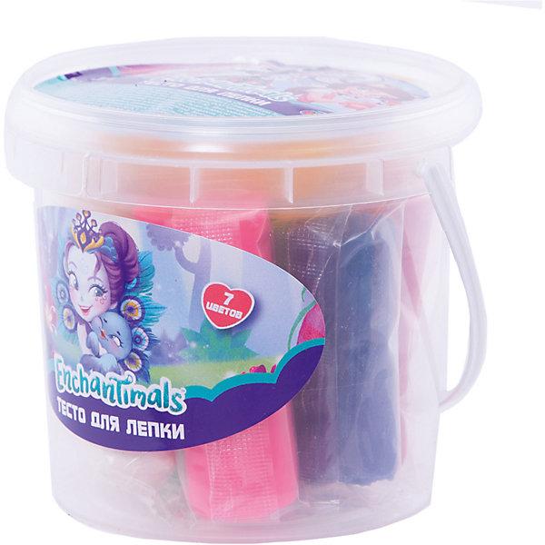 Тесто для лепки Centrum Enchantimals 7 цветов + 2 формочки, 30 грТесто для лепки<br>Характеристики:<br><br>• масса для лепки, 7 цветов;<br>• в комплекте 2 формочки;<br>• состав: вода, пищевые соли, мука, красители, консервант;<br>• вес: 7х30 г.<br><br>Масса для лепки используется для создания объемных и плоских пластилиновых фигурок, для конструирования из пластилиновых кирпичиков домиков. Масса для лепки приятная на ощупь, не липнет к рукам и одежде.  <br><br>Тесто для лепки Enchantimals, 7 цветов можно купить в нашем интернет-магазине.