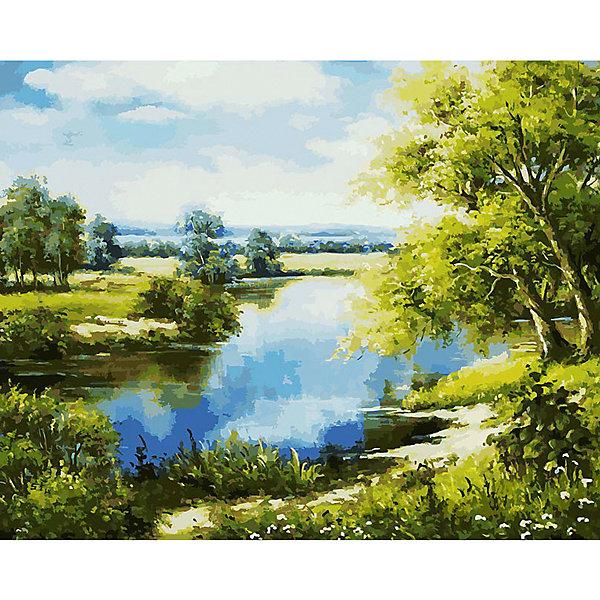 Купить Раскраска по номерам Белоснежка Лесное озеро , 40х50 см, Китай, Унисекс
