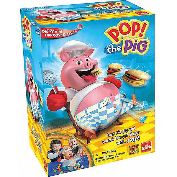 Настольная интерактивная игра Goliath Поросенок обжораХиты продаж<br>Характеристики товара:<br>• возраст: от 4 лет;<br>• материал: пластик, картон;<br>• в комплекте: поросёнок, 16 гамбургеров, 1 кубик, инструкция;<br>• количество игроков: 2-6 человек;<br>• размер упаковки: 26,7х26,7х12,5 см;<br>• вес упаковки: 839 гр.;<br>• страна производитель: Китай.<br>Интерактивная игра Goliath «Поросенок обжора» - увлекательная игра для компании. Участники по очереди бросают кубик. На сторонах кубика нарисованы гамбургеры, либо Х. Затем игрок берет и бросает в поросенка гамбургер и нажимает на его голову столько раз, сколько написано на нижней стороне гамбургера. Как только поросенок наестся, у него лопается ремень. Выиграет тот, в чей ход это произошло.<br>Интерактивную игру Goliath «Поросенок обжора» можно приобрести в нашем интернет-магазине.<br>Ширина мм: 125; Глубина мм: 267; Высота мм: 267; Вес г: 839; Возраст от месяцев: 48; Возраст до месяцев: 2147483647; Пол: Унисекс; Возраст: Детский; SKU: 7487086;