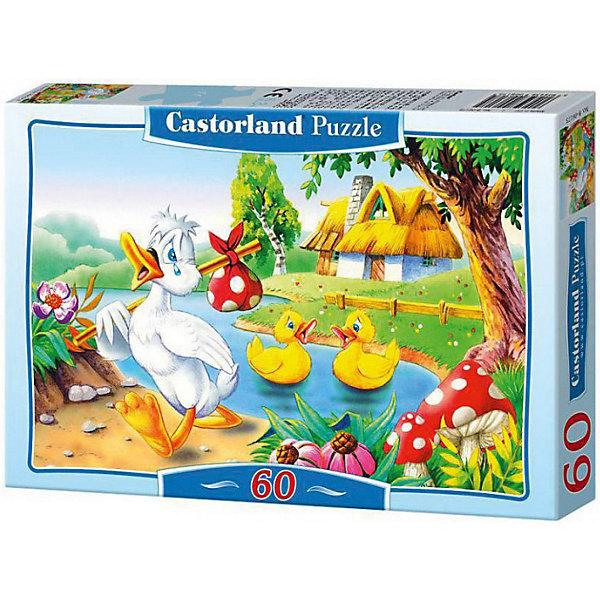 Пазл Castorland Гадкий утенок 60 деталей MIDIПазлы для малышей<br>Характеристики товара:<br><br>• возраст: от 3 лет;<br>• количество деталей: 60 шт;<br>• материал: картон;<br>• размер упаковки: 17,5х13х3,7 см;<br>• размер картины: 32х23 см;<br>• вес упаковки: 150 гр.;<br>• страна производитель: Польша.<br><br>Пазл Castorland (Касторлэнд) Гадкий утенок – это отличный способ увлекательно провести досуг, снять стресс и развить моторику.<br><br>Качество этих пазлов подтверждено миллионами любителей сборки пазлов. Пазлы Castorland собираются легко. Каждая деталь имеет индивидуальную форму и легко соединяется с другой, поэтому у Вас обязательно получится ожидаемый результат - картина собранная собственными руками.<br><br>Пазл Castorland (Касторлэнд) Гадкий утенок можно купить в нашем интернет-магазине.<br>Ширина мм: 180; Глубина мм: 130; Высота мм: 40; Вес г: 150; Возраст от месяцев: 36; Возраст до месяцев: 2147483647; Пол: Унисекс; Возраст: Детский; SKU: 7487346;