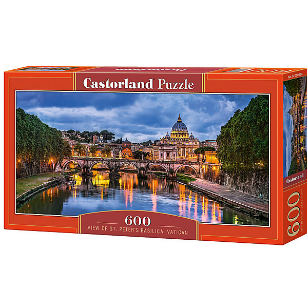Castorland Пазл Castorland Базилика Святого Петра 600 деталей castorland пазл castorland панорама флоренции 600 деталей
