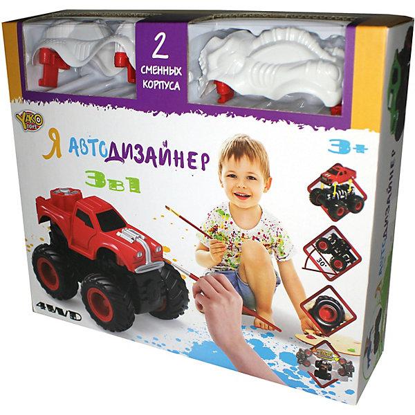 Yako Я Автодизайнер, Игровой набор 3 в 1, Yako машины yako машина инерционная m6253