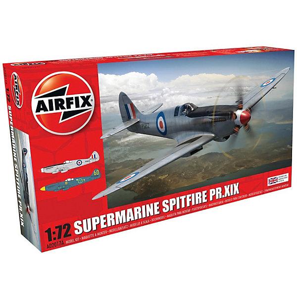 Сборная модель Airfix Высотный разведчик  Supermarine Spitfire Pr.XIX 1:72Самолеты и вертолеты<br>Характеристики:<br><br>• возраст: от 8 лет;<br>• материал: пластик;<br>• масштаб: 1:72;<br>• количество элементов: 44;<br>• схема покраски;<br>• клей и краски: не в наборе;<br>• длина модели: 13,8 см;<br>• размах крыльев: 15,6 см;<br>• вес упаковки: 128 гр.;<br>• размер упаковки: 23х13х5 см;<br>• страна бренда: Великобритания.<br><br>Модель для сборки Supermarine Spitfire Pr.XIX от Airfix изображает одноименный самолет-разведчик. Каждая деталь выполнена из качественного пластика, элементы детализированы под покраску.<br><br>В подробной инструкции описаны шаги к созданию идентичной копии самолета. Конструирование модели развивает усидчивость и внимательность, повышает творческие способности и задействует пространственное мышление.<br><br>Готовая модель может стать отличным подарком близким, личным сувениром или частью коллекции сборных моделей.<br><br>Сборную модель Supermarine Spitfire Pr.XIX 1:72 можно купить в нашем интернет-магазине.<br>Ширина мм: 230; Глубина мм: 130; Высота мм: 50; Вес г: 128; Возраст от месяцев: 96; Возраст до месяцев: 2147483647; Пол: Мужской; Возраст: Детский; SKU: 7490425;