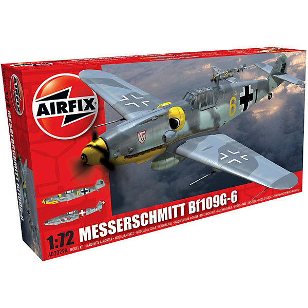 Сборная модель Airfix Истребитель Messerschmitt Bf109G-6 1:72Самолеты и вертолеты<br>Характеристики:<br><br>• возраст: от 8 лет;<br>• материал: пластик;<br>• масштаб: 1:72;<br>• количество элементов: 41;<br>• схема покраски;<br>• клей и краски: не в наборе;<br>• длина модели: 12,5 см;<br>• размах крыльев: 13,7 см;<br>• вес упаковки: 122 гр.;<br>• размер упаковки: 23х12,6х4,5 см;<br>• страна бренда: Великобритания.<br><br>Модель для сборки Messerschmitt Bf109G-6 от Airfix изображает одноименный военный истребитель. Каждая деталь выполнена из качественного пластика, элементы детализированы под покраску.<br><br>В подробной инструкции описаны шаги к созданию идентичной копии самолета. Конструирование модели развивает усидчивость и внимательность, повышает творческие способности и задействует пространственное мышление.<br><br>Готовая модель может стать отличным подарком близким, личным сувениром или частью коллекции сборных моделей.<br><br>Сборную модель Messerschmitt Bf109G-6 1:72 можно купить в нашем интернет-магазине.<br>Ширина мм: 230; Глубина мм: 125; Высота мм: 45; Вес г: 122; Возраст от месяцев: 96; Возраст до месяцев: 2147483647; Пол: Мужской; Возраст: Детский; SKU: 7490432;