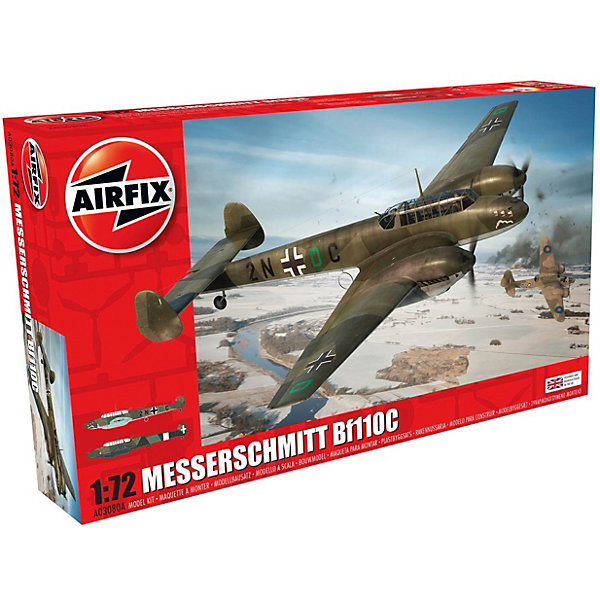 Airfix Сборная модель Airfix Истребитель Messerschmitt Bf110C/D 1:72 taylor larimore the bogleheads guide to retirement planning
