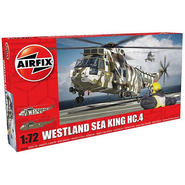 Сборная модель Airfix Вертолет Westland Sea King HC.4 1:72Самолеты и вертолеты<br>Характеристики:<br><br>• возраст: от 8 лет;<br>• материал: пластик;<br>• масштаб: 1:72;<br>• количество элементов: 139;<br>• схема покраски;<br>• клей и краски: не в наборе;<br>• длина модели: 30,7 см;<br>• размах лопастей: 26,2 см;<br>• вес упаковки: 241 гр.;<br>• размер упаковки: 28,1х16,2х5,1 см;<br>• страна бренда: Великобритания.<br><br>Модель для сборки Westland Sea King HC.4 от Airfix изображает одноименный британский вертолет. Каждая деталь выполнена из качественного пластика, элементы детализированы под покраску.<br><br>В подробной инструкции описаны шаги к созданию идентичной копии вертолета. Конструирование модели развивает усидчивость и внимательность, повышает творческие способности и задействует пространственное мышление.<br><br>Готовая модель может стать отличным подарком близким, личным сувениром или частью коллекции сборных моделей.<br><br>Сборную модель Westland Sea King HC.4 1:72 можно купить в нашем интернет-магазине.<br>Ширина мм: 281; Глубина мм: 162; Высота мм: 51; Вес г: 241; Возраст от месяцев: 96; Возраст до месяцев: 2147483647; Пол: Мужской; Возраст: Детский; SKU: 7490443;