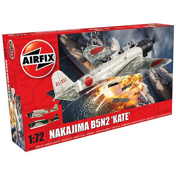 Сборная модель Airfix  Торпедоносец Nakajima B5N2 Kate 1:72Самолеты и вертолеты<br>Характеристики:<br><br>• возраст: от 8 лет;<br>• материал: пластик;<br>• масштаб: 1:72;<br>• количество элементов: 107;<br>• схема покраски;<br>• клей и краски: не в наборе;<br>• длина модели: 14,3 см;<br>• размах крыльев: 21,6 см;<br>• вес упаковки: 201 гр.;<br>• размер упаковки: 28,3х5,1х16,2 см;<br>• страна бренда: Великобритания.<br><br>Модель для сборки Nakajima B5N2 «Kate» от Airfix изображает одноименный японский торпедоносец. Каждая деталь выполнена из качественного пластика, элементы детализированы под покраску.<br><br>В подробной инструкции описаны шаги к созданию идентичной копии самолета. Конструирование модели развивает усидчивость и внимательность, повышает творческие способности и задействует пространственное мышление.<br><br>Готовая модель может стать отличным подарком близким, личным сувениром или частью коллекции сборных моделей.<br><br>Сборную модель Nakajima B5N2 «Kate» 1:72 можно купить в нашем интернет-магазине.<br>Ширина мм: 283; Глубина мм: 51; Высота мм: 162; Вес г: 201; Возраст от месяцев: 96; Возраст до месяцев: 2147483647; Пол: Мужской; Возраст: Детский; SKU: 7490445;