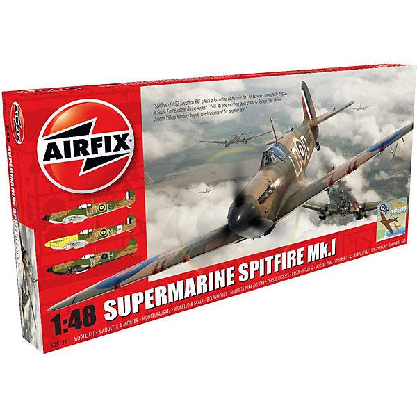Сборная модель Airfix Истребитель Supermarine Spitfire Mk.I 1:48Самолеты и вертолеты<br>Характеристики:<br><br>• возраст: от 8 лет;<br>• материал: пластик;<br>• масштаб: 1:48;<br>• количество элементов: 149;<br>• схема покраски;<br>• клей и краски: не в наборе;<br>• длина модели: 19,2 см;<br>• размах крыльев: 23,2 см;<br>• вес упаковки: 294 гр.;<br>• размер упаковки: 18,7х5,1х36,7 см;<br>• страна бренда: Великобритания.<br><br>Модель для сборки Supermarine Spitfire Mk.I от Airfix изображает одноименный британский истребитель. Каждая деталь выполнена из качественного пластика, элементы детализированы под покраску.<br><br>В подробной инструкции описаны шаги к созданию идентичной копии самолета. Конструирование модели развивает усидчивость и внимательность, повышает творческие способности и задействует пространственное мышление.<br><br>Готовая модель может стать отличным подарком близким, личным сувениром или частью коллекции сборных моделей.<br><br>Сборную модель Supermarine Spitfire Mk.I 1:48 можно купить в нашем интернет-магазине.<br>Ширина мм: 187; Глубина мм: 51; Высота мм: 367; Вес г: 294; Возраст от месяцев: 96; Возраст до месяцев: 2147483647; Пол: Мужской; Возраст: Детский; SKU: 7490451;