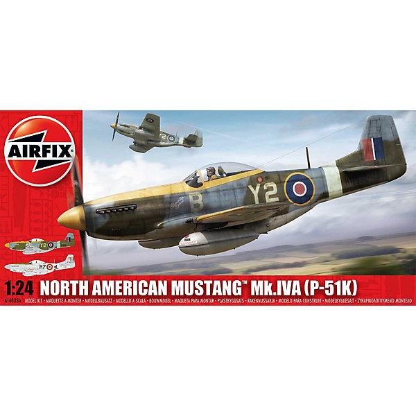 Сборная модель Airfix Самолет North American P-51K/RF Mustang 1:24Самолеты и вертолеты<br>Характеристики:<br><br>• возраст: от 8 лет;<br>• материал: пластик;<br>• масштаб: 1:24;<br>• количество элементов: 238;<br>• схема покраски;<br>• клей и краски: не в наборе;<br>• длина модели: 40,9 см;<br>• размах крыльев: 46,9 см;<br>• вес упаковки: 1,2 кг.;<br>• размер упаковки: 68х32х7 см;<br>• страна бренда: Великобритания.<br><br>Модель для сборки North American P-51K/RF Mustang от Airfix изображает одноименный одноместный истребитель США. Каждая деталь выполнена из качественного пластика, элементы детализированы под покраску.<br><br>В подробной инструкции описаны шаги к созданию идентичной копии самолета. Конструирование модели развивает усидчивость и внимательность, повышает творческие способности и задействует пространственное мышление.<br><br>Готовая модель может стать отличным подарком близким, личным сувениром или частью коллекции сборных моделей.<br><br>Сборную модель North American P-51K/RF Mustang 1:24 можно купить в нашем интернет-магазине.<br>Ширина мм: 680; Глубина мм: 320; Высота мм: 70; Вес г: 1201; Возраст от месяцев: 96; Возраст до месяцев: 2147483647; Пол: Мужской; Возраст: Детский; SKU: 7490470;
