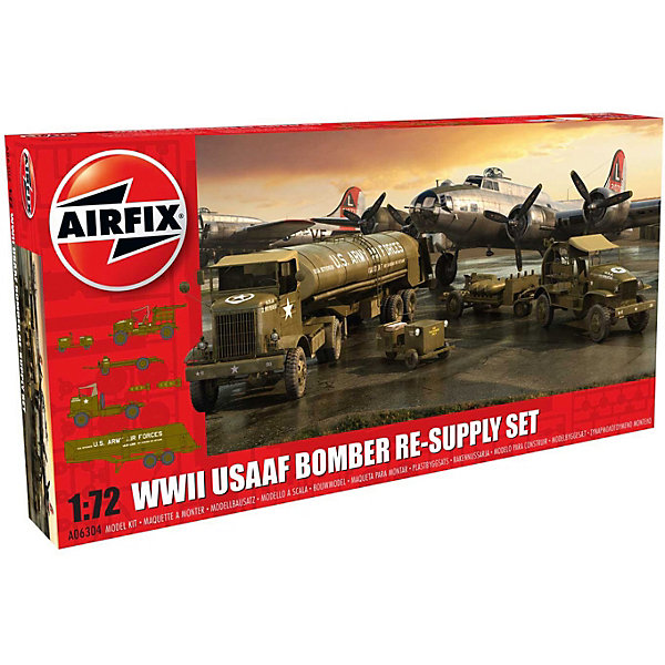 Airfix Набор Airfix Аэродромная техника USAAF 8th Air Force Bomber Resupply Set 1:72 atlas 1 200 american air force b2 phantom stealth bomber alloy aircraft model collection model holiday gift