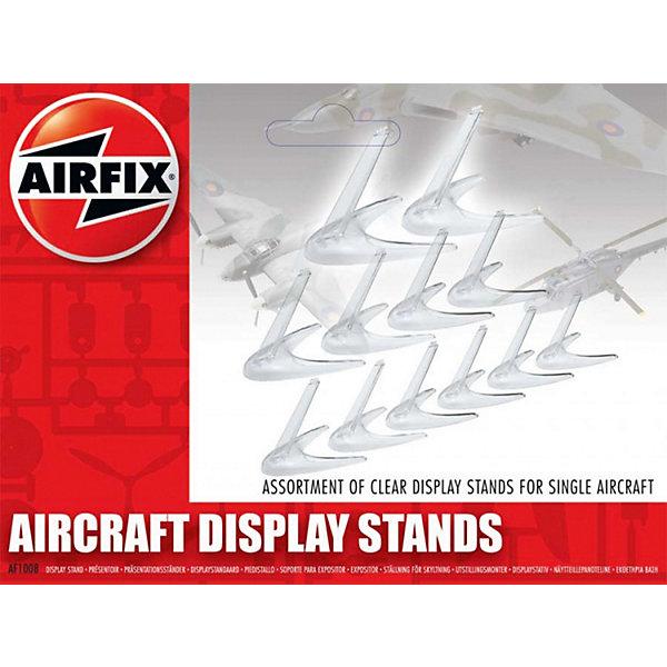 Набор подставок для самолетов разного размера AirfixАксессуары для сборных моделей<br>Характеристики:<br><br>• материал: пластик;<br>• количество: 12 шт.;<br>• вес упаковки: 85 гр.;<br>• размер упаковки: 16х2,8х33,2 см;<br>• страна бренда: Великобритания.<br><br>Набор прозрачных пластиковых подставок универсально подходит к сборным моделям самолетов разных размеров. Подставки устойчиво стоят на ровной поверхности. С их помощью можно лучше рассмотреть готовую модель, все надписи и рисунки на ней. Подставки выигрышно подчеркивают коллекцию воздушных суден. <br><br>Набор подставок для самолетов разного размера (12 шт.) можно купить в нашем интернет-магазине.<br>Ширина мм: 160; Глубина мм: 28; Высота мм: 332; Вес г: 85; Возраст от месяцев: 96; Возраст до месяцев: 2147483647; Пол: Мужской; Возраст: Детский; SKU: 7490479;