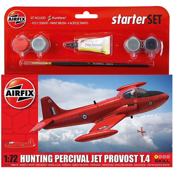 Airfix Подарочный набор Airfix Самолет Hunting Percival Jet Provost T3 1:72 brinyte b168 hunting flashlight waterproof 5mode zoomable cree xm l2 u4 led rechargeable torch tactical hunting outdoor light