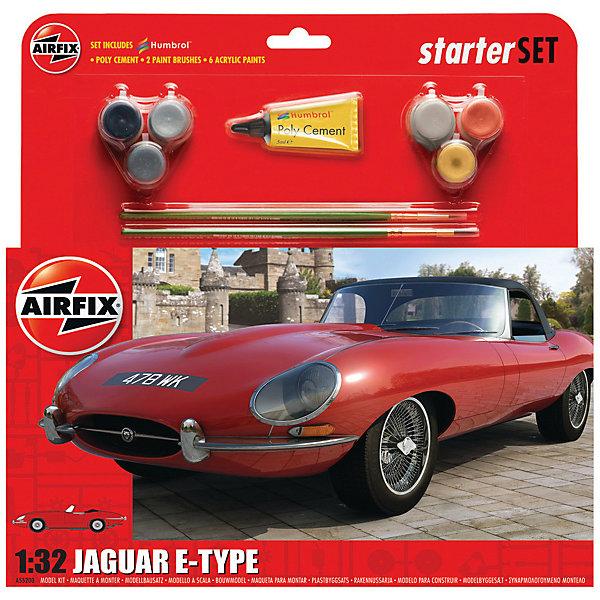 Сборная модель Airfix Автомобиль Jaguar EAirfixType 1:32Автомобили<br>Характеристики:<br><br>• возраст: от 8 лет;<br>• материал: пластик;<br>• количество элементов: 49;<br>• масштаб: 1:32;<br>• схема покраски;<br>• в наборе: клей, 2 кисточки, 6 красок;<br>• длина модели: 13,9 см;<br>• ширина модели: 5,1 см;<br>• вес упаковки: 170 гр.;<br>• размер упаковки: 23,2х4,6х28 см;<br>• страна бренда: Великобритания.<br><br>Модель для сборки Jaguar E-Type от Airfix изображает одноименный автомобиль. Каждая деталь выполнена из качественного пластика, элементы детализированы под покраску.<br><br>В подробной инструкции описаны шаги к созданию идентичной копии машины. Конструирование модели развивает усидчивость и внимательность, повышает творческие способности и задействует пространственное мышление. Набор подойдет для начинающих и практикующих моделистов.<br><br>Готовая модель может стать отличным подарком близким, личным сувениром или частью коллекции сборных моделей.<br><br>Подарочный набор – Jaguar E-Type 1:32 можно купить в нашем интернет-магазине.<br>Ширина мм: 232; Глубина мм: 46; Высота мм: 280; Вес г: 170; Возраст от месяцев: 96; Возраст до месяцев: 2147483647; Пол: Мужской; Возраст: Детский; SKU: 7490491;