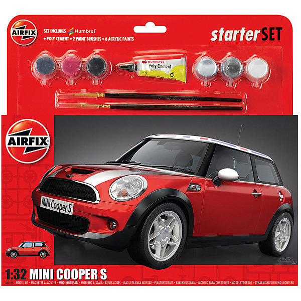 Airfix Подарочный набор Airfix Автомобиль MINI Cooper S 1:32 for mini cooper one s r55 r56 r58 r59 r60 r61 f55 f56 countryman clubman car door laser lamp projector led lights
