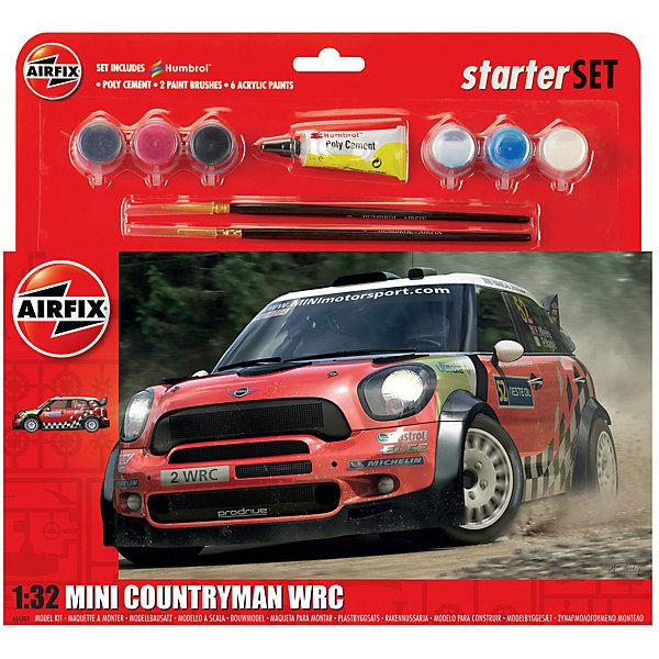 Подарочный набор  AirfixАвтомобиль  MINI Countryman WRC 1:32Автомобили<br>Характеристики:<br><br>• возраст: от 8 лет;<br>• материал: пластик;<br>• количество элементов: 71;<br>• масштаб: 1:32;<br>• схема покраски;<br>• в наборе: клей, 2 кисточки, 6 красок;<br>• длина модели: 12,7 см;<br>• ширина модели: 5,8 см;<br>• вес упаковки: 286 гр.;<br>• размер упаковки: 28,2х6,1х26,7 см;<br>• страна бренда: Великобритания.<br><br>Модель для сборки Mini Countryman WRC от Airfix изображает одноименный автомобиль для гонок ралли. Каждая деталь выполнена из качественного пластика, элементы детализированы под покраску.<br><br>В подробной инструкции описаны шаги к созданию идентичной копии машины. Конструирование модели развивает усидчивость и внимательность, повышает творческие способности и задействует пространственное мышление. Набор подойдет для начинающих и практикующих моделистов.<br><br>Готовая модель может стать отличным подарком близким, личным сувениром или частью коллекции сборных моделей.<br><br>Подарочный набор большой – Mini Countryman WRC 1:32 можно купить в нашем интернет-магазине.<br>Ширина мм: 282; Глубина мм: 61; Высота мм: 267; Вес г: 286; Возраст от месяцев: 96; Возраст до месяцев: 2147483647; Пол: Мужской; Возраст: Детский; SKU: 7490506;