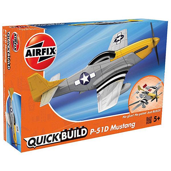 Конструктор Airfix Истребитель P-51D MustangСамолеты и вертолеты<br>Характеристики:<br><br>• возраст: от 5 лет;<br>• материал: пластик;<br>• количество элементов: 38 + 3 детали для стенда;<br>• размер модели: 23х24,2 см;<br>• вес упаковки: 151 гр.;<br>• размер упаковки: 23,1х15х5 см;<br>• страна бренда: Великобритания.<br><br>Модель-конструктор самолета серии Quickbuild от Airfix отличается от классических сборных моделей тем, что для ее создания не нужен клей и красители – все элементы уже покрыты стойкой невыцветающей краской, а детали надежно соединяются между собой по принципу конструктора. Готовую модель можно дополнить наклейками из набора и поставить на специальный пьедестал.<br><br>Сборка развивает усидчивость и внимательность, повышает творческие способности и задействует пространственное мышление. Набор подойдет даже для совсем юных моделистов. Готовая модель может стать отличным подарком близким, личным сувениром или частью коллекции.<br><br>Модель-конструктор Quickbuild P-51D Mustang можно купить в нашем интернет-магазине.<br>Ширина мм: 231; Глубина мм: 50; Высота мм: 150; Вес г: 151; Возраст от месяцев: 60; Возраст до месяцев: 2147483647; Пол: Мужской; Возраст: Детский; SKU: 7490516;