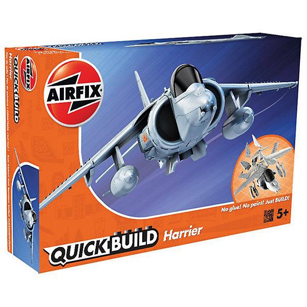 Конструктор Airfix Самолет HarrierСамолеты и вертолеты<br>Характеристики:<br><br>• возраст: от 5 лет;<br>• материал: пластик;<br>• количество элементов: 27 + 3 детали для стенда;<br>• размер модели: 22,8х15 см;<br>• вес упаковки: 152 гр.;<br>• размер упаковки: 23х15х5 см;<br>• страна бренда: Великобритания.<br><br>Модель-конструктор самолета серии Quickbuild от Airfix отличается от классических сборных моделей тем, что для ее создания не нужен клей и красители – все элементы уже покрыты стойкой невыцветающей краской, а детали надежно соединяются между собой по принципу конструктора. Готовую модель можно дополнить наклейками из набора и поставить на специальный пьедестал.<br><br>Сборка развивает усидчивость и внимательность, повышает творческие способности и задействует пространственное мышление. Набор подойдет даже для совсем юных моделистов. Готовая модель может стать отличным подарком близким, личным сувениром или частью коллекции.<br><br>Модель-конструктор Quickbuild Harrier можно купить в нашем интернет-магазине.<br>Ширина мм: 230; Глубина мм: 150; Высота мм: 50; Вес г: 152; Возраст от месяцев: 60; Возраст до месяцев: 2147483647; Пол: Мужской; Возраст: Детский; SKU: 7490517;