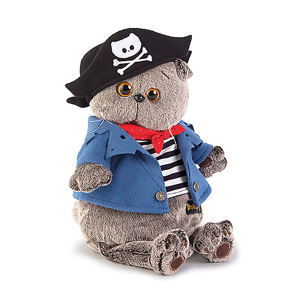 Фотография товара мягкая игрушка Budi Basa Кот Басик Пират, 19 см (7491160)
